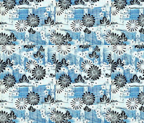 Music and flowers fabric by quinnanya on Spoonflower - custom fabric