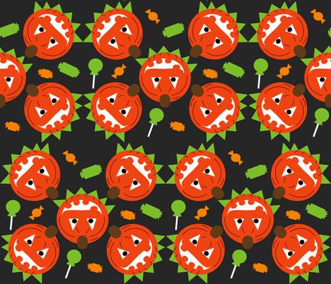 Pumpkin Head fabric by kel_marie_n on Spoonflower - custom fabric