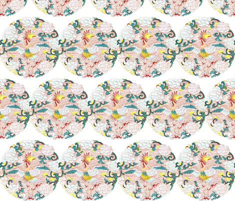 Captured bird fabric by quinnanya on Spoonflower - custom fabric