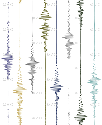 Earthquake! Vertical Seismograph in Earth Tones