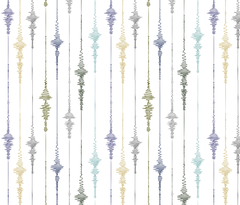 Earthquake! Vertical Seismograph in Earth Tones fabric by vo_aka_virginiao on Spoonflower - custom fabric