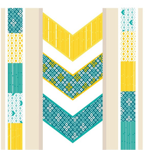 Sunshine Chevron Cheater Quilt Pillow Set