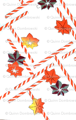 Fall candy canes