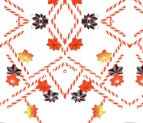 Fall candy canes fabric by quinnanya on Spoonflower - custom fabric