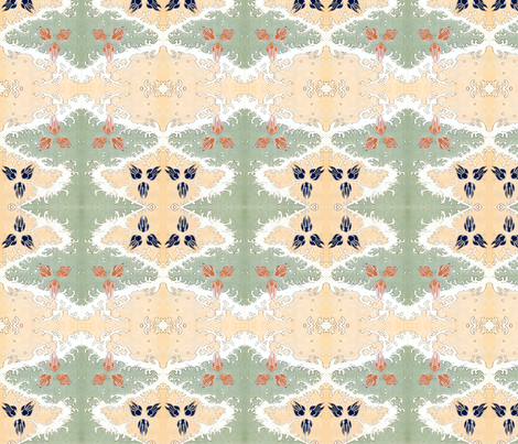 Rabbits at the beach fabric by quinnanya on Spoonflower - custom fabric