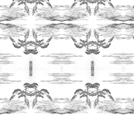 Moonlit beach fabric by quinnanya on Spoonflower - custom fabric
