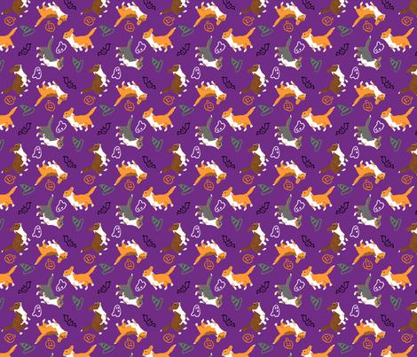 Ditzy seasons - Halloween Cardigans fabric by rusticcorgi on Spoonflower - custom fabric