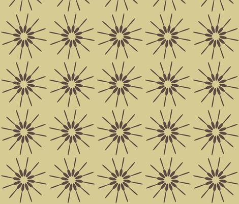 Spoon Cream & Brown fabric by designedtoat on Spoonflower - custom fabric