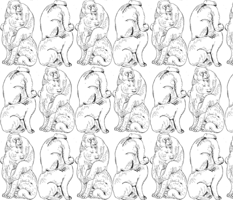 Cat and monkey fabric by quinnanya on Spoonflower - custom fabric