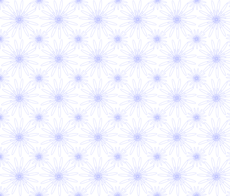 white dotted flowers fabric by mojiarts on Spoonflower - custom fabric