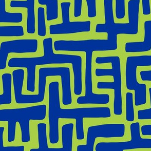 Architectually eighties (blue-lime)