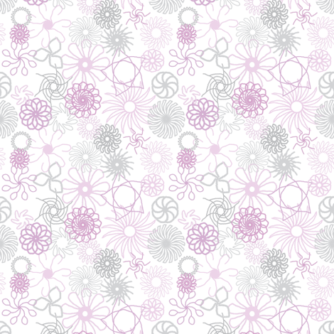 Rosaces_violet et gris fabric by bebcorbi on Spoonflower - custom fabric