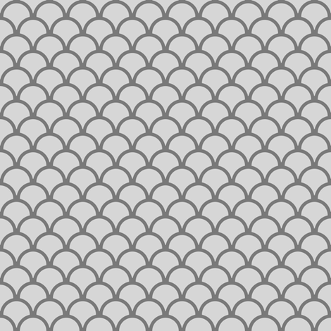 scallops grey fabric by mojiarts on Spoonflower - custom fabric