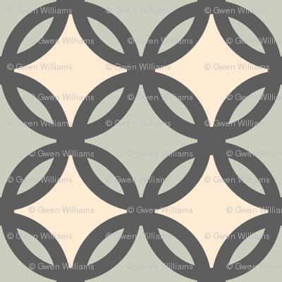 circles diamonds iron green 4