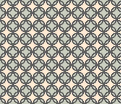 circles diamonds iron green 4 fabric by mojiarts on Spoonflower - custom fabric