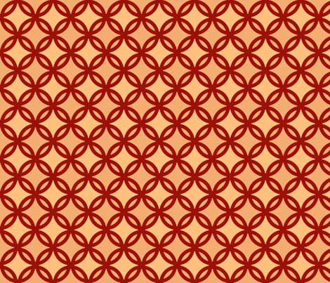 circles diamonds autumn colors 4 fabric by mojiarts on Spoonflower - custom fabric