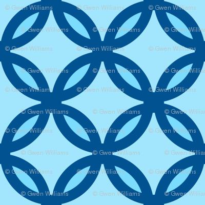 circles diamonds ocean blue