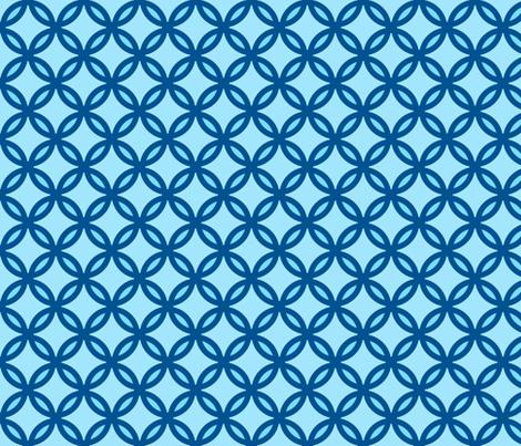 circles diamonds ocean blue fabric by mojiarts on Spoonflower - custom fabric