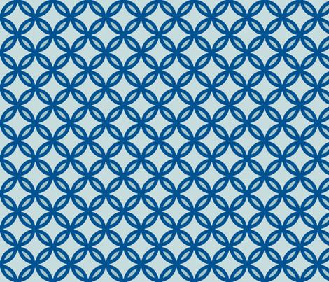 circles diamonds ocean green fabric by mojiarts on Spoonflower - custom fabric