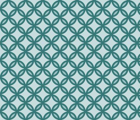 circles diamonds ocean green 2 fabric by mojiarts on Spoonflower - custom fabric
