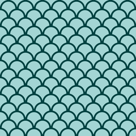 scallops ocean green  fabric by mojiarts on Spoonflower - custom fabric