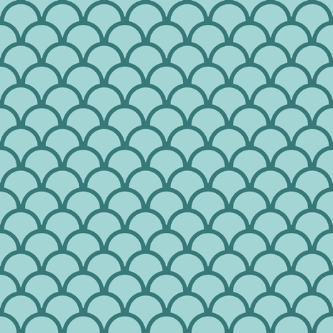 scallops ocean green 2 fabric by mojiarts on Spoonflower - custom fabric