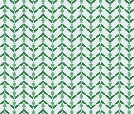 herringbone green 9 fabric by mojiarts on Spoonflower - custom fabric