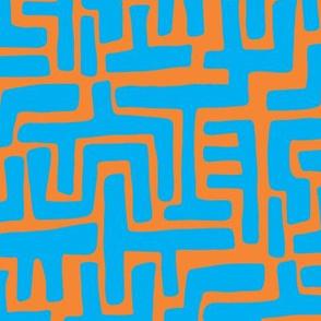 Architectually eighties (blue/orange)