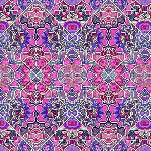 Magenta Mandala Patchwork
