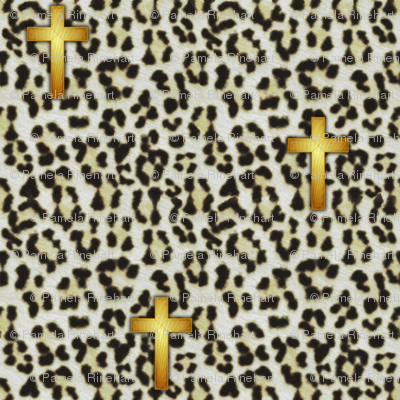 leopard_cross_white snow leopard