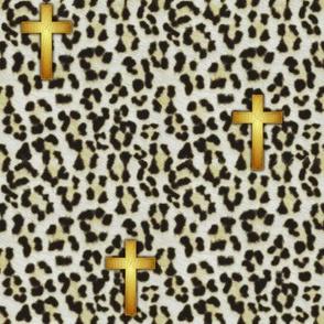 leopard_cross_white snow leopard
