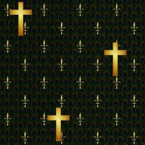 cross_gold_peacock_fleurdelis