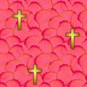 cross_gold_rose_petals