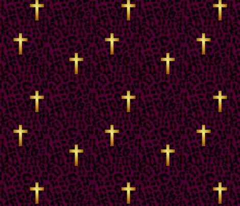 leopard_cross_purple fabric by glimmericks on Spoonflower - custom fabric