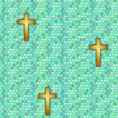 spangle cross mermaid