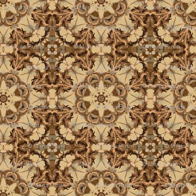 kaleidoscope dancefloor in sepia