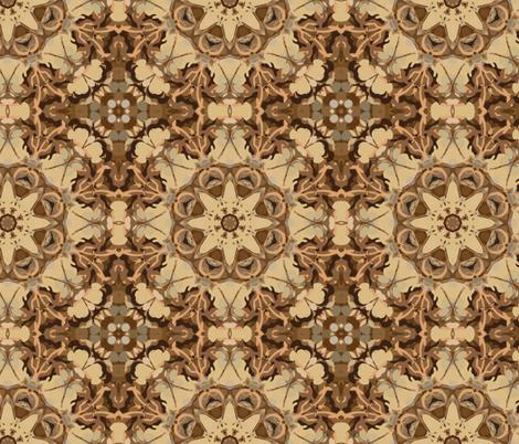 kaleidoscope dancefloor in sepia fabric by kociara on Spoonflower - custom fabric
