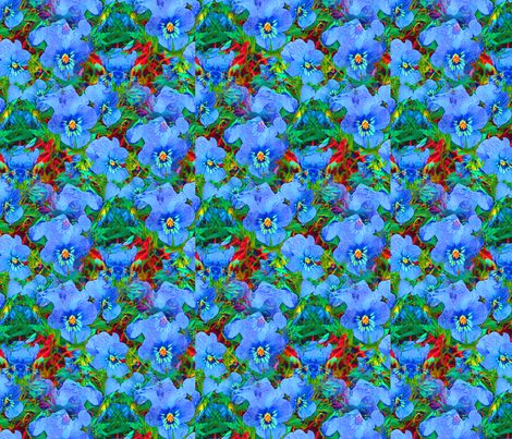 Violets fabric by arts_and_herbs on Spoonflower - custom fabric