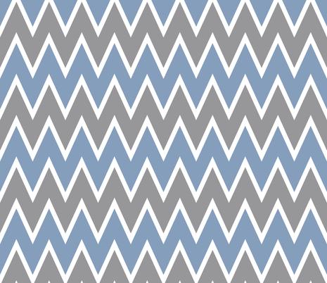 Chevron Vintage Blue fabric by allisajacobs on Spoonflower - custom fabric