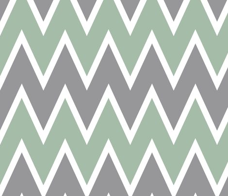 chevron-mint fabric by allisajacobs on Spoonflower - custom fabric