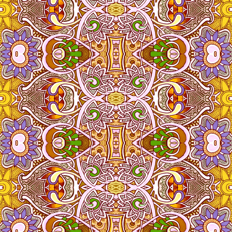 Persian Version (complex and bold autumn toned vertical stripe) fabric by edsel2084 on Spoonflower - custom fabric