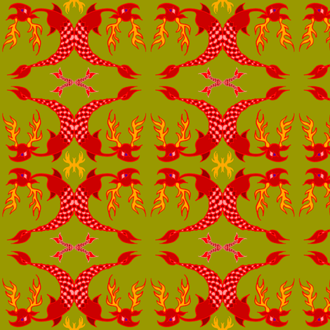 little red seadeer fabric by emanuelletomato on Spoonflower - custom fabric