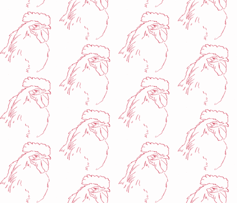 smug roo-red fabric by cathymcg on Spoonflower - custom fabric