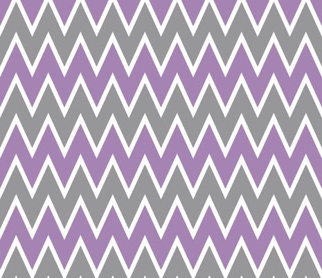 Purple Gray Chevron fabric - allisajacobs - Spoonflower