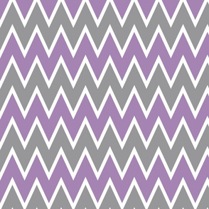 Purple Gray Chevron