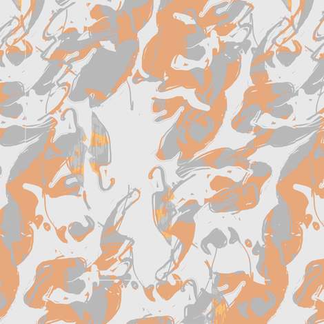 Orange Grey fabric by triik on Spoonflower - custom fabric