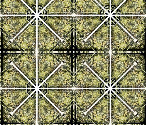 kaleidoscopic stained glass fabric by kociara on Spoonflower - custom fabric