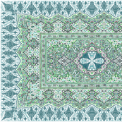 persian knot tea towel emerald