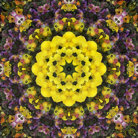 kaleidoscopic violets fabric by kociara on Spoonflower - custom fabric