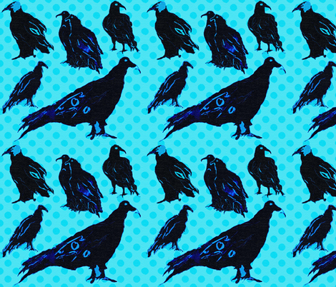 VultureBlack5Swatch fabric by obsessive_creative on Spoonflower - custom fabric